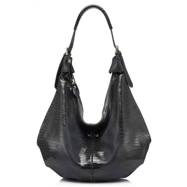 Женская большая сумка-Полумесяц из натуральной кожи REALER