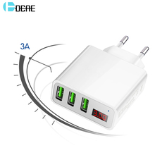 DCAE LED Display 3 USB Mobile Phone Charger For iPhone Samsung Xiaomi Max 2.4A Universal Fast Charging USB Wall Charger EU/US