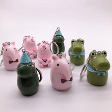 2019 Cute Animal Pencil Sharpener Cartoon Stationery Cat and Duck Plastic Sharpeners for Kids Student School Gift keyring
