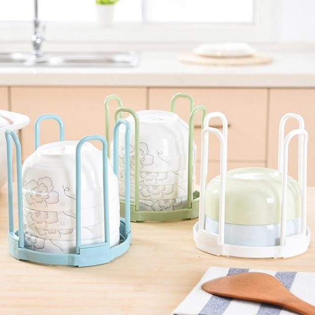 New Durable escorredor de pratos tigela placa de suporte de armazenamento de espaço de cozinha Pia Escorredor de pratos prateleira Prateleiras cozinha suprimentos