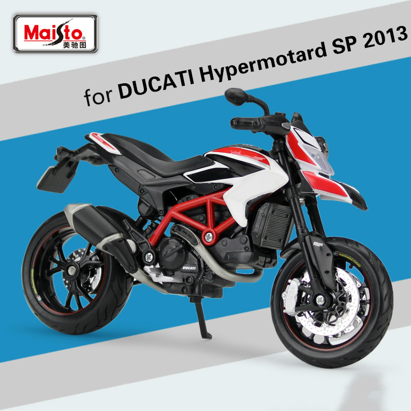 Maisto for DUCATI Hypermotard SP 2013 Offroad Motorcycle Model 1:12 Cross-country Racing Motorbike Scooter Motorcycing Model ToyMaisto for DUCATI Hypermotard SP 2013 Offroad Motorcycle Model 1:12 Cross-country Racing Motorbike Scooter Motorcycing Model Toy