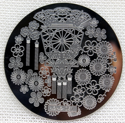 0051 Round Nail Art Stamp Stamping Plates Template Lantern Flower Fan Pavilion Nail Art Stamp Template Image Plate hehe051 in Nail Art Templates from Beauty Health