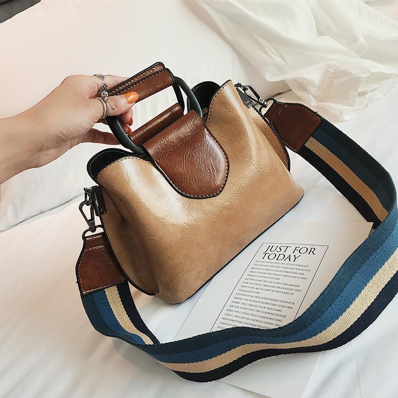 Women Bags Handbag Crossbody-Bag Iron Panelled Double-Shoulder-Strap Glossy Designer