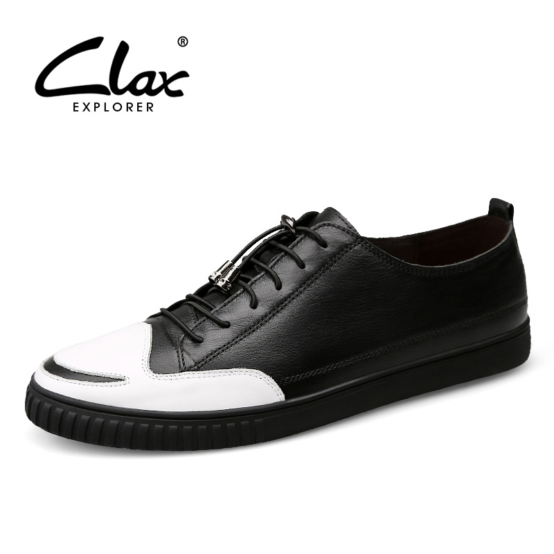CLAX Men's Casual Shoes Genuine Leather 2017 Autumn Shoe for Male British Style Leisure Footwear Mix Color Fashion Walking Shoe