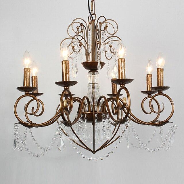 Lampadari europei in ferro battuto complesso classica camera da ...