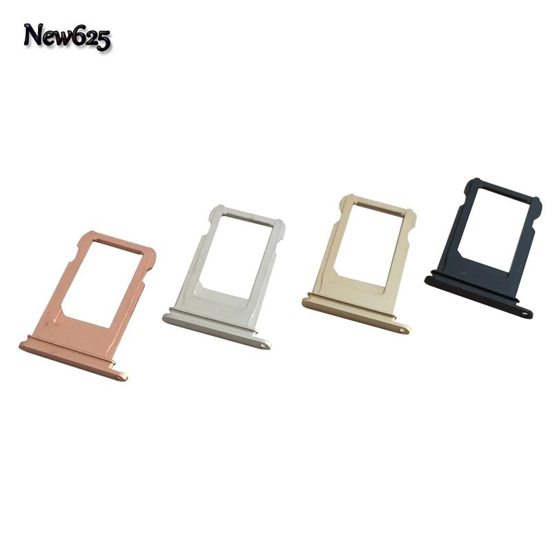 10 Pcs/Lot, Original New Sim Card Holder Sim Card Tray Sim Card Slot For iphone 7 plus Repair Parts High Quality