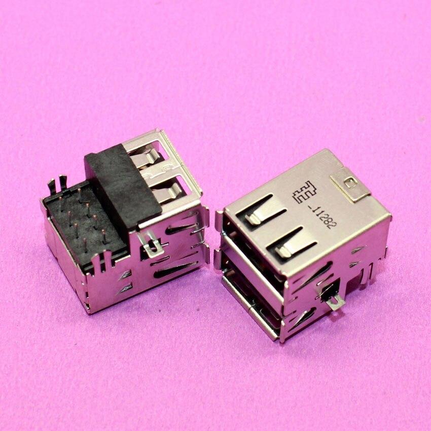 YuXi 1piece New Double USB connector USB Jack socket plug for computer PC laptop. 1x new usb 2 0 connector plug socket jack long 1cm for toshiba l300 l300d l305 l305d series