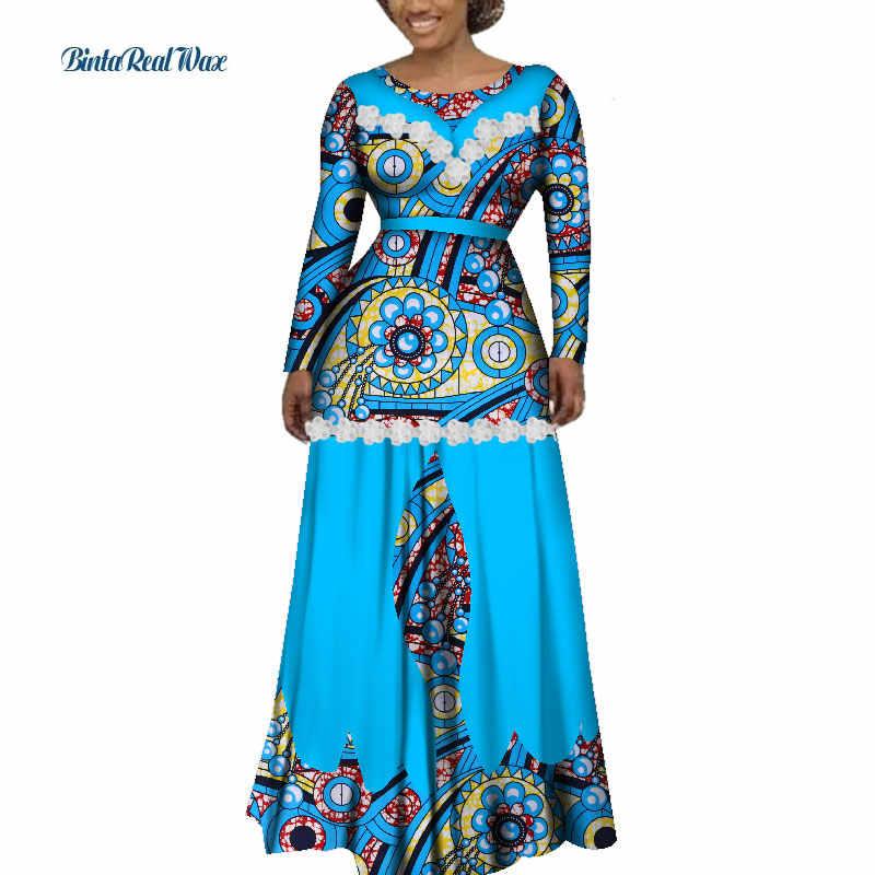 ... Bazin Riche Women African Clothing Flower Edge Applique Long Dress  Party Vestidos Dashiki African Print Dresses ... 857fbda122f1
