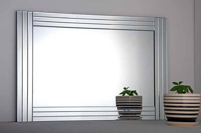 Bevelled Mirror Large Mirror sliver frame mirrors glass on glass ...