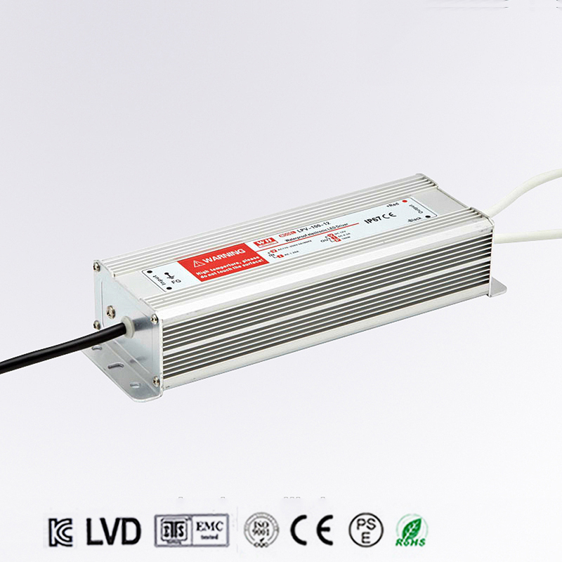 DC 12V 100W IP67 Waterproof LED Driver,outdoor use for led strip power supply, Lighting Transformer,Power adapter,Free shipping power supply 24v 800w dc power adapter ac110 220v non waterproof led driver 33a ups for strip lamps wholesale 1pcs
