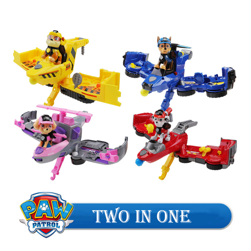 Paw Patrol Dog Vehicle Toys Without Original Box Action Figure Transformation Car aircraft Model Children Gifts Boys Toys