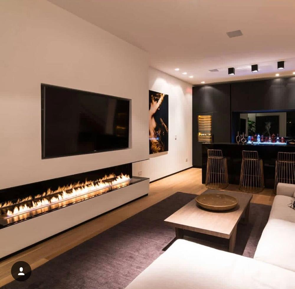 Inno Living Fire 60 Inch  150cm Electric Fireplace Furniture Quemadores Bioetanol