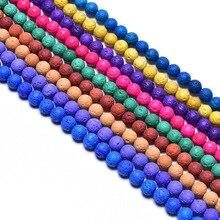 1strand/lot 6 8 10 12 mm Natural Volcanic Lava Stone Round Beads Rock Lava Loose Beads For DIY Bracelet Jewelry making Handmade цена 2017