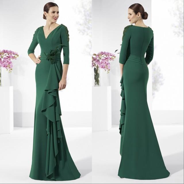 Mãe elegante dos Vestidos de Noiva Noivo Verde Escuro Mãe dos Vestidos de Noivo Vestidos Vestidos Especiais da Ocasião Formal Partido Vestidos