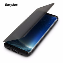 Easyacc For Samsung Galaxy S8 D Series Flip Cover Invisible window full screen protection Phone flip case for plus
