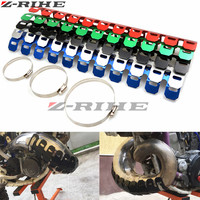 Motorcycle Exhaust Muffler Pipe Leg Protector Heat Shield Cover FOR Ktm EXC F DR DRZ RM