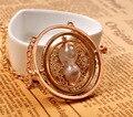 2017 Venta Caliente película tiempo collar collar turner reloj de arena colgante Collar Hermione Granger Rotating Spins
