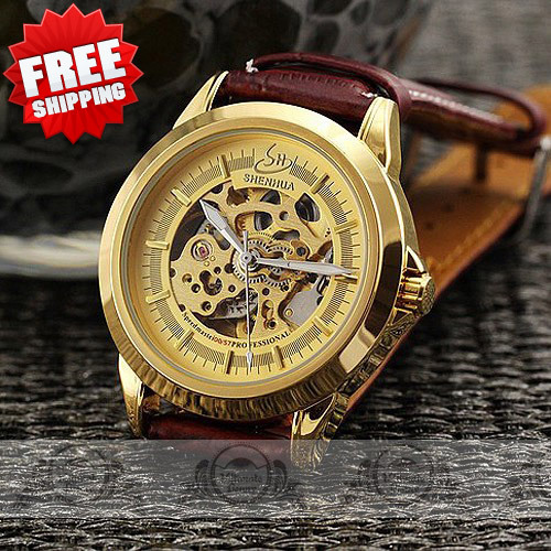 sharp watches prices. luxury collection skeleton watch analog dial \u0026 distinct sharp hand mens automatic real leather band mechanical wristwatch-in watches from prices m