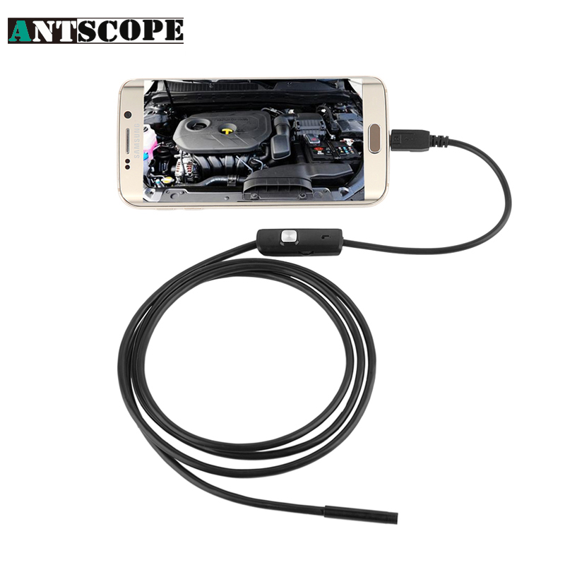 Antscope 2M 7mm lens Endoscope For Android Phone With OTG Inspection Pipe IP67 Waterproof  Side mirrors USB Camera La ENDOSCOPIA 7mm 2m endoscope endoskop android usb phone camera cable otg tube borescope pipe waterproof ip67 inspection surveillance wistino