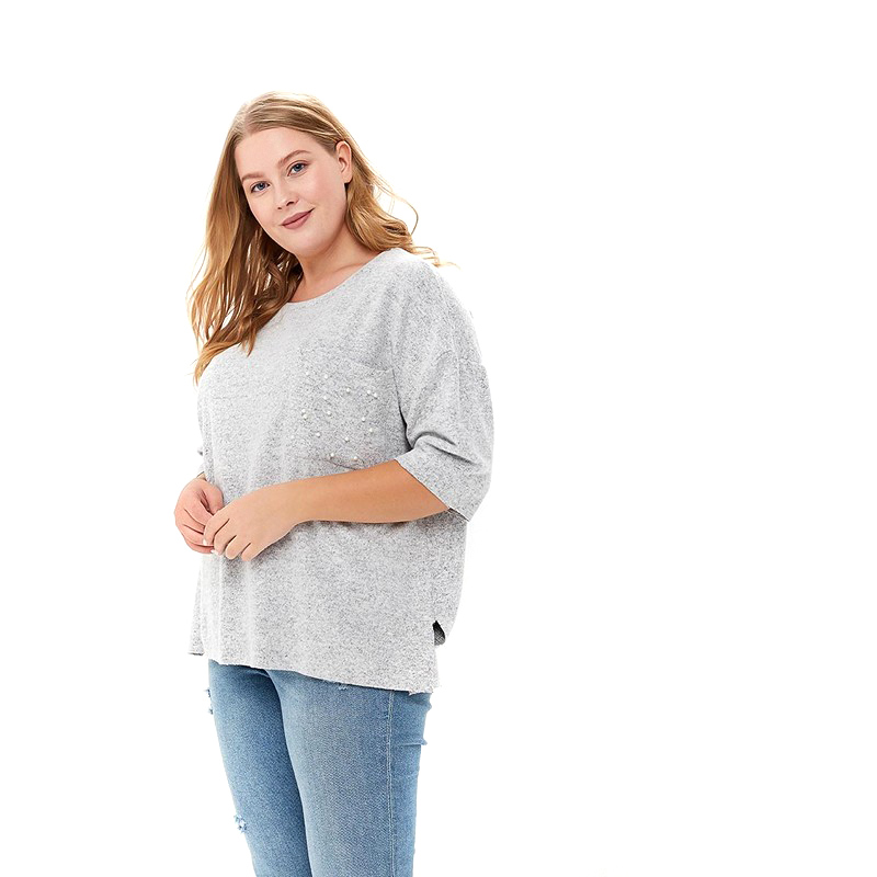 Sweaters MODIS M182W00307 jumper sweater clothes apparel pullover for female for woman TmallFS bear patched plus size pullover sweater