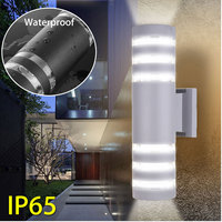 Smuxi AC 220V 9W Modern Outdoor Indoor LED Up Down Cube Wall Light Lamp Fixture Sconce IP65