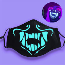 KPOP New Anime League of K/DA Kda Akali Assassin Cosplay S8 Face Mask Night Lights cosplay props masks Luminous mouse Gifts(China)