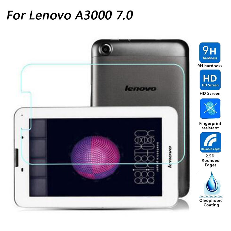 Tempered Glass Screen Protector For <font><b>Lenovo</b></font> A3000 / A3300 A7-30 / Tab A7 A3500 / A5500 A8-<font><b>50</b></font> /A10-<font><b>70</b></font> A7600 Tablet Protective Film image