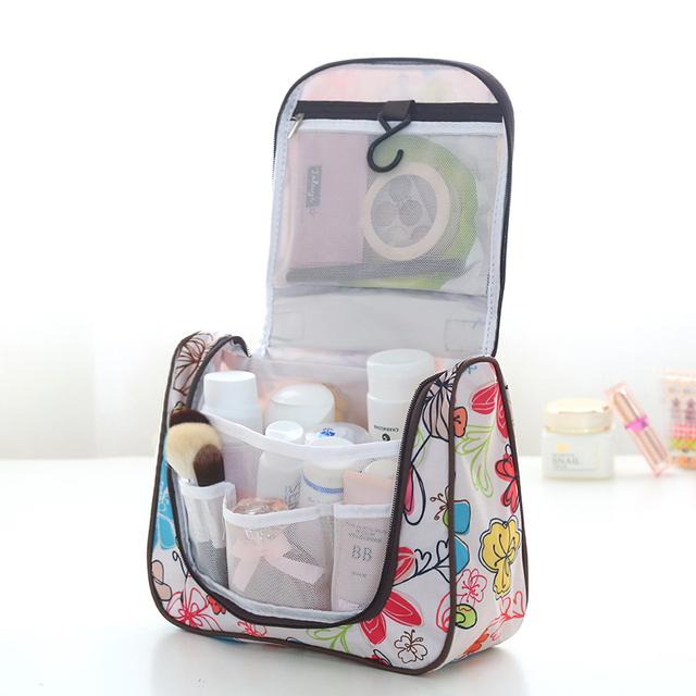 Bolso cosmético de gran capacidad dermoprotector viajes portátil bolsa acabado lavado bolso femenino portable