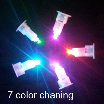 LED light bulb 7 color changing for Paper Lantern craft DIY Birthday Wedding Party decor supplies