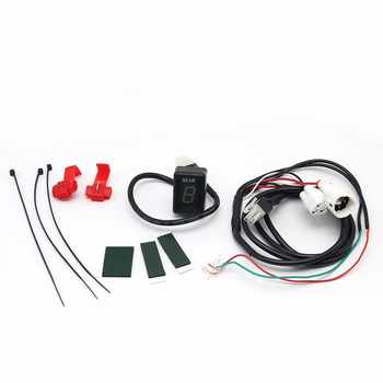 ZSDTRP Universal Ecu Plug Mount Digital Gear Display Indicator 1-6 Level Gear Indicator for Harley Kawasaki Yamaha Honda Suzuki