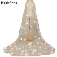 Wedding Veil 3 Meters Long One Layer HooltPrinc Bridal Veil with Applique Ivory/White Elegant Wedding Accessories