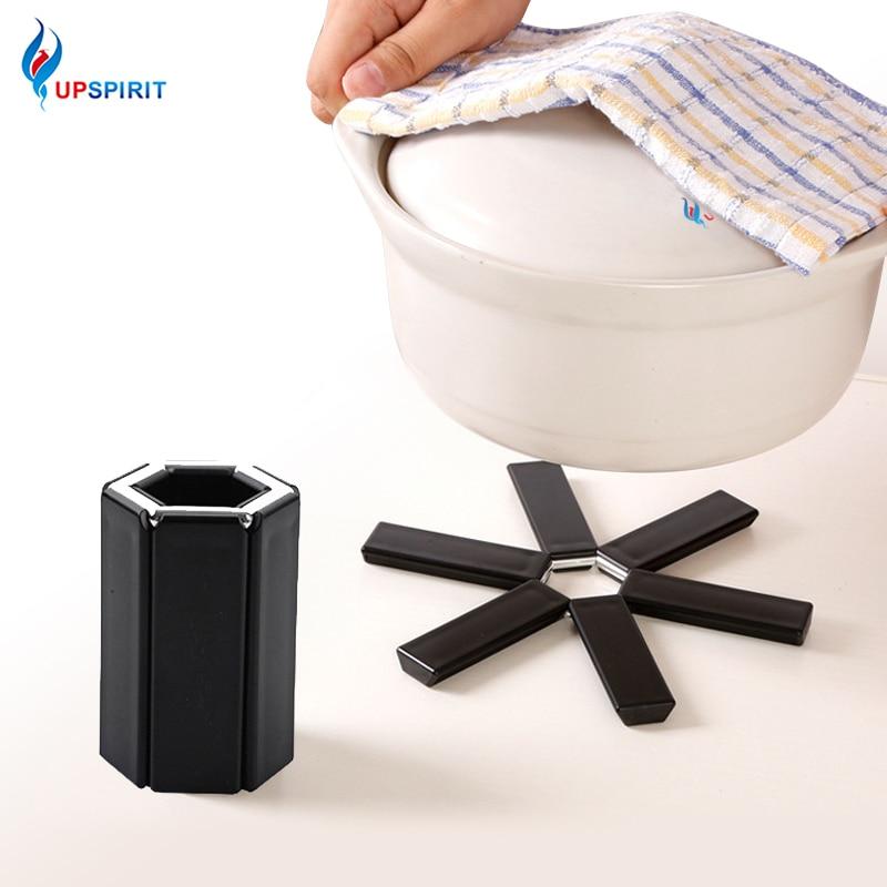 Folding Design Non Slip Heat Resistant Mat Plastic Pan Pad