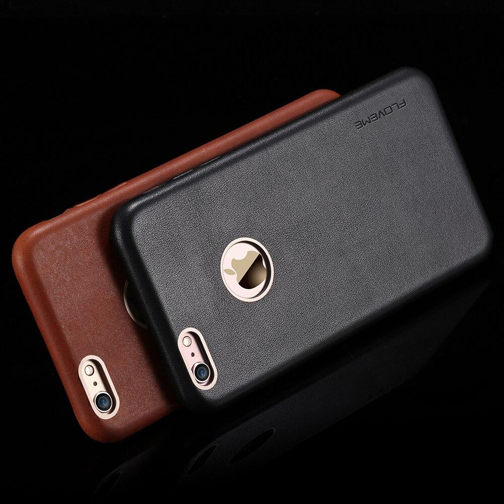 bilder für FLOVEME Echtes Leder-kasten Für iPhone 6 6 s Plus telefon Capa Fundas Zubehör Leder Zurück Fall Für iPhone6s Volle schutz