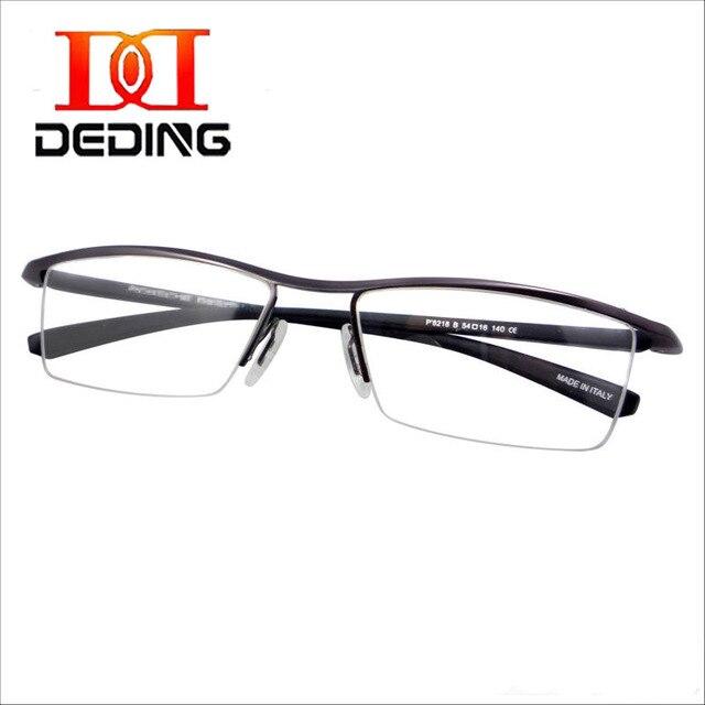 Tent DEDING negocio de moda ligero Flexible hombres mitad borde Glasses Degree para lente de la prescripción DD0751A