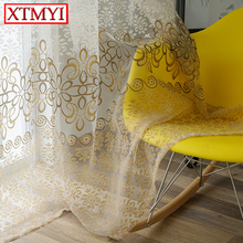 ФОТО tulle curtains for living room window curtains for bedroom kitchen modern sheer voile drapes
