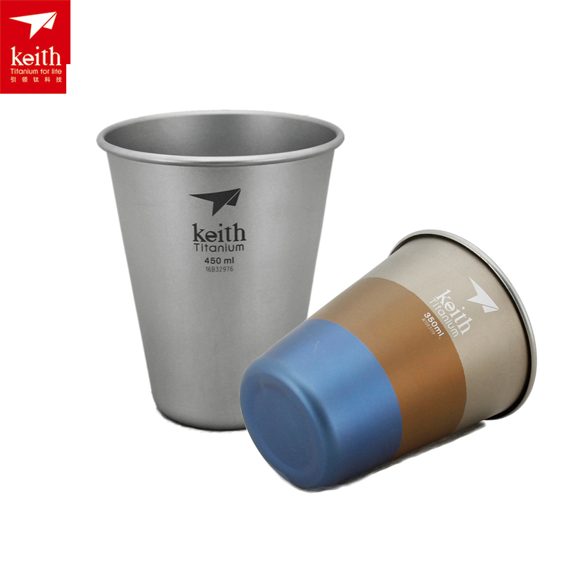 <font><b>KEITH</b></font> <font><b>Titanium</b></font> <font><b>Cup</b></font> Outdoor Camping Drinkware <font><b>Titanium</b></font> Beer <font><b>Cup</b></font> Mug Tea Drink Camping <font><b>Cups</b></font> 350ml 450ml
