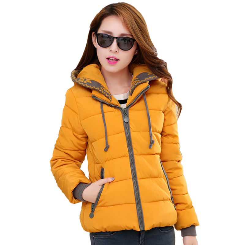 New Winter Jacket 2017 Women Cotton Parkas Lady Hooded Coats Jaqueta Feminina Thick Warm Slim Big Size Outerwear L-3XL 3L53 women down cotton winter hooded jacket coats 2018 korean big yards thick warm parkas lady coat student jacket boutique clothing