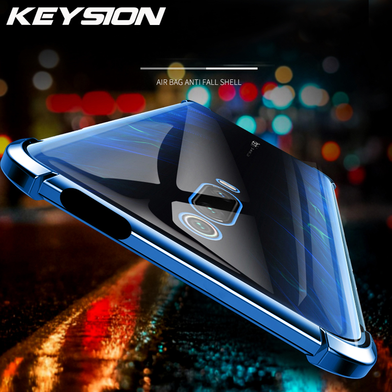 KEYSION Shockproof Plating Case for Xiaomi Mi9T Pro for Redmi K20 Air-bag Anti-knock Clear Soft TPU Back Cover for Redmi K20 Pro image