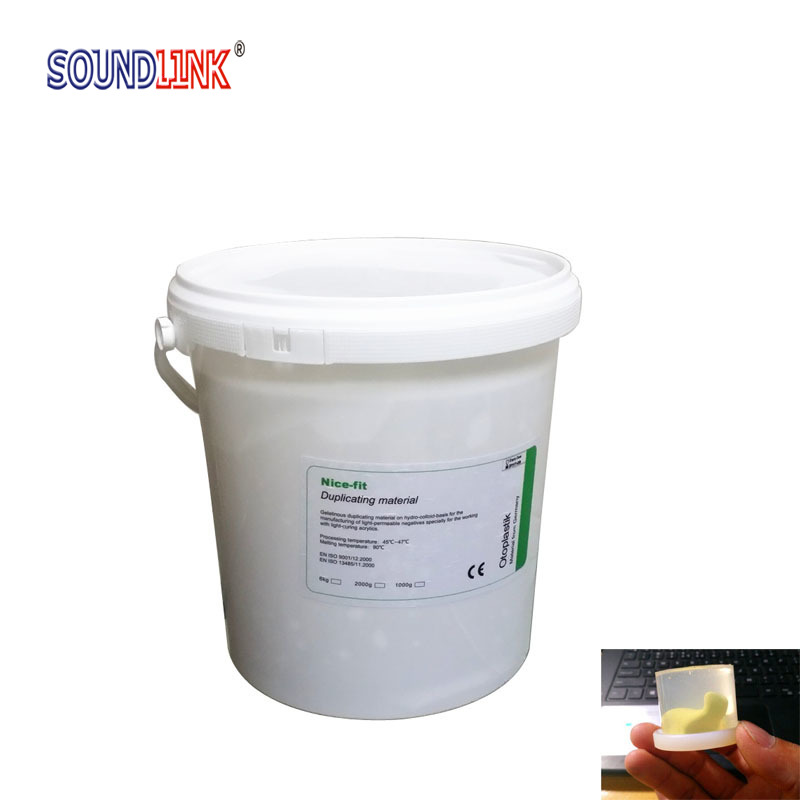 Solid Agar Impression Duplicating Agar Material Transparent for IEM and Earmolds Making