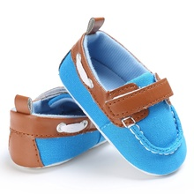 Spring Summer Kids Baby Boys Fashion Casual Sneakers Canvas Leisure First Walkers Toddler Non-slip Shows 0-18M S2