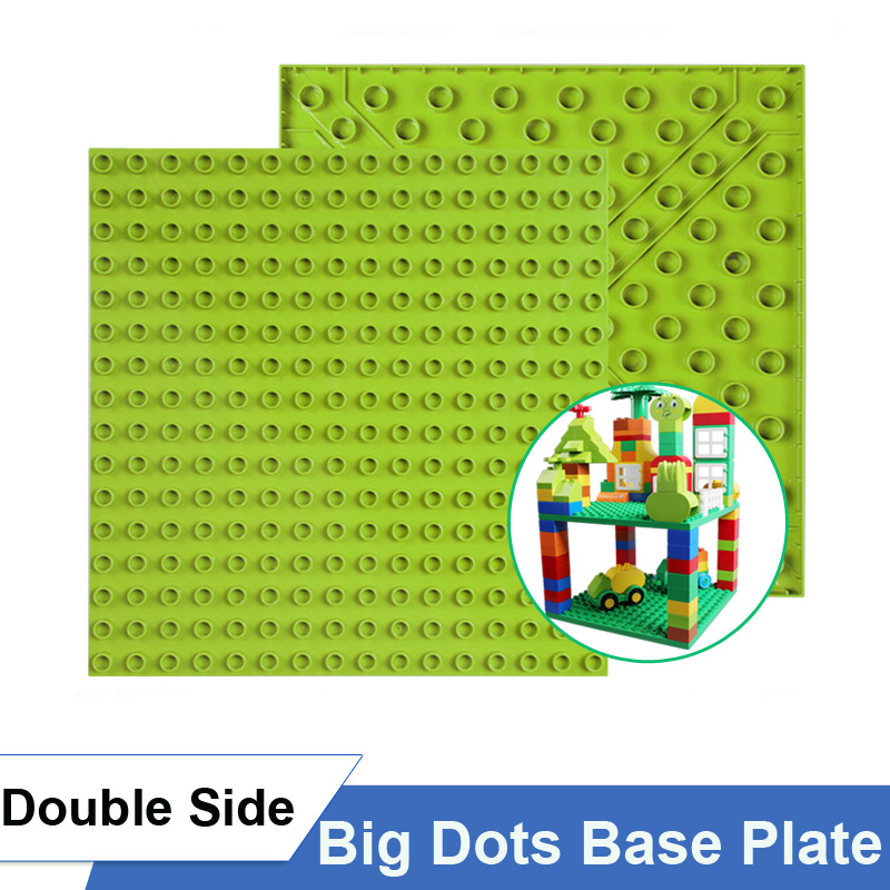 2PCS 16X16 Dots Double Side Classic Base Plate For Legoly Duploly Big Size Building Blocks Highway Base Plate Toy For Children