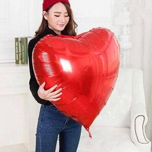 Image 3 - 結婚式の装飾風船大36インチ75センチハート箔風船バレンタインの日誕生日パーティーアニバーサリーデコレーション用品