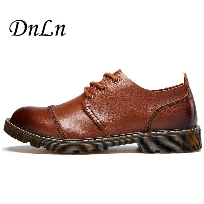 Size 38-44 Full Grain Leather Men Work Boots Black Brown Men Leather Shoes Warm Winter Male Short Boots D30