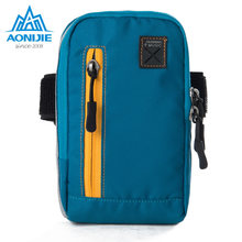AONIJIE Arm Luggage Armband Wrist Pouch Outside Sports activities Operating Pockets Cash Purse for Cellular Telephone Keys
