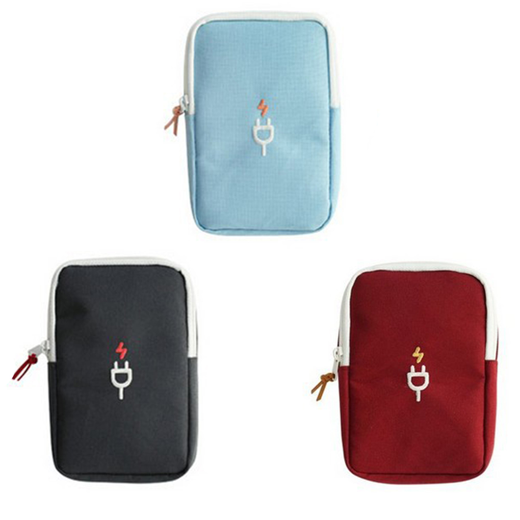 Portable Accessories Travel Carrying Organizer Case For Various USB Cable