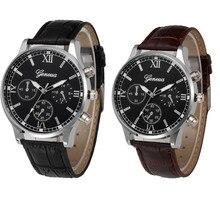 2017  New Retro Design Leather Band Analog Alloy Quartz Wrist Watch  Dropshipping L601