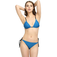 M M 2018 New Solid Bathing Suit Female Explosion Split Bikinis Set Women Low Waist Triangle