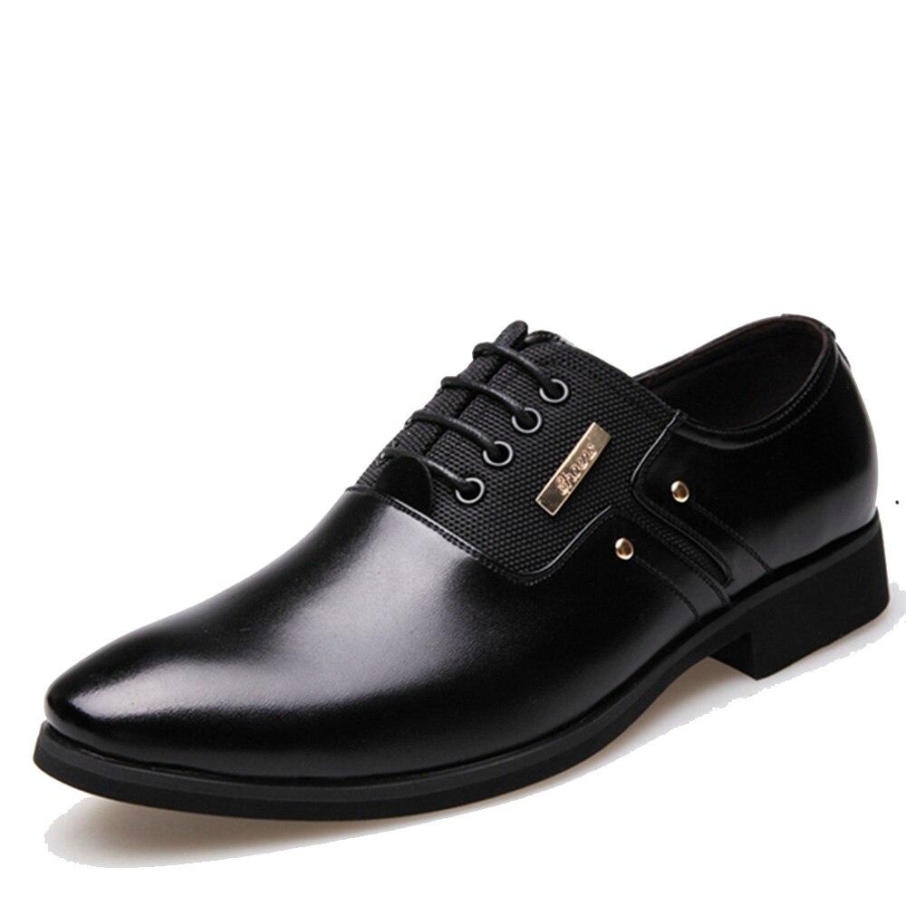 Herrenschuhe Oxford-schuhe Dropshipping Männer Kleid Slip-on Schwarz Oxford Schuhe Für Männer Wohnungen Leder Mode Männer Schuhe Atmungsaktiv Komfortable Zapatos Hombre RegelmäßIges TeegeträNk Verbessert Ihre Gesundheit