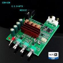 Tpa3116d2 bluetooth 5.0 amplificador placa de áudio 50 w * 2 tweeter baixo ajuste do carro casa teatro digital amplificadores ne5532 com aux