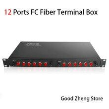 12 Порты FC стойку утолщение оптоволоконная коробка FC волокно оптическая распределительная коробка оптоволоконное распределение